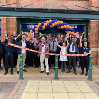 Store staff at B&M's new store in Northampton were delighted to welcome the local mayor and a representative from charity MCAP. The charity received £250 worth of B&M vouchers for taking part in B&M's special day, while the mayor cut the ribbon to officially open the store.