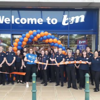 Charli Brunning from local charity Mind Leeds cut the ribbon at B&M's newest store in Kirkstall, Leeds; officially opening the brand new store on Savins Mill Way.