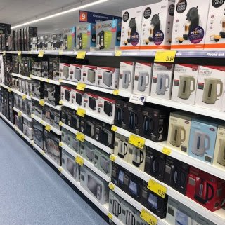 B&M's brand new store in Hitchin stocks a great range of electrical items for the home, including TVs, Bluetooth speakers, toasters, irons and much more.