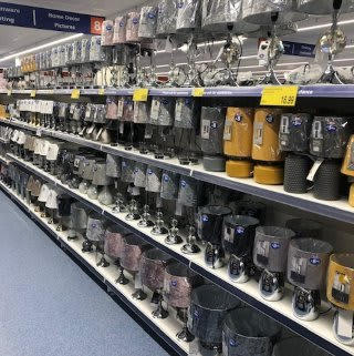 B&M's brand new store in Hitchin stocks a charming range of home decor, including table lamps, light pendants and much more.