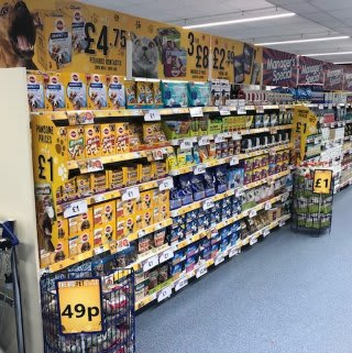 B&M's brand new store in Hitchin stocks an amazing and ever-changing pet range, from dog and cat food to toys and pet bedding.