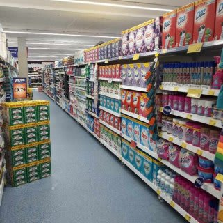 B&M's brand new store in Dover boasts a huge cleaning and laundry range, featuring brands like Daz, Ariel, Lenor, Fairy and much more!
