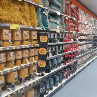 B&M's brand new store in Lichfield stocks an exciting home range in the latest trends, including candles, photo frames, soft furnishings and much more.