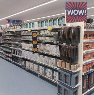 B&M's brand new store in Lichfield stocks a huge range of quality kitchen essentials, like dinner sets and tableware. We sell kitchen bins, storage and tea towels too!