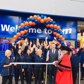 Store staff at B&M's new store in Brislington were delighted to welcome Lord Mayor of Bristol Jos Clark who cut the ribbon to officially declare the store 'open'.