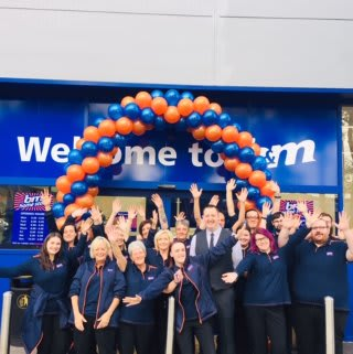The store team at B&M's newest store in Brislington pose in front of their wonderful new Home Store, located on Brislington Retail Park.