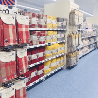B&M's brand new store in Wolverhampton stocks a stunning range of home textiles, including curtains, voiles and panels in a range of colours and the latest trends.