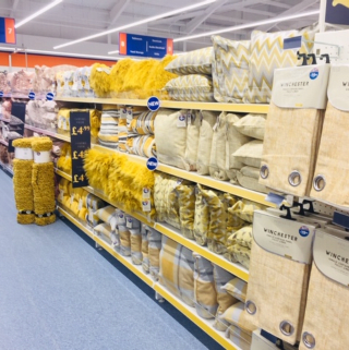 B&M's brand new store in Portsmouth stocks a stunning range of soft furnishings for the home, including cushions, covers, throws, blankets and more!