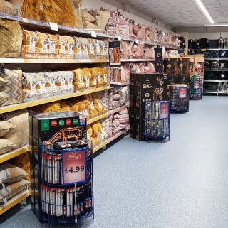 B&M's brand new store in Brecon stocks a stunning range of soft furnishings for the home, including cushions, covers, throws, blankets and more!