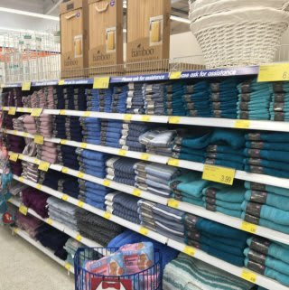 Textiles, including bathmats and bathroom towels, are ready for B&M Featherstone's first customers.