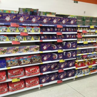 A first glimpse inside B&M's new Featherstone store, featuring a mouth-watering range of Christmas confectionery.