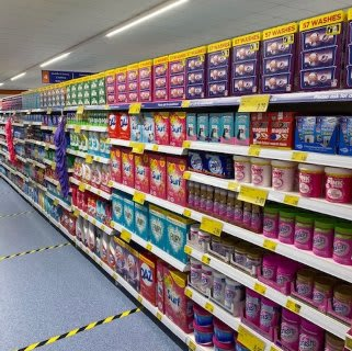 B&M's brand new store in Havant stocks a huge range of cleaning products, from the biggest brands like Daz, Ariel, Comfort, Fairy and many more.