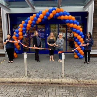 Store staff at B&M's new store in Havant were delighted to welcome Kathy Adams from Legan Valley Hospital, who cut the ribbon to officially open the store. Mrs Adams was chosen by store staff as their Local Hero and received £250 in B&M vouchers as a thank you for her hard work in the community.
