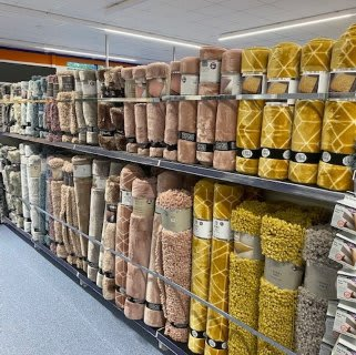 B&M's brand new store in Havant stocks a stunning range of soft furnishings for the home, including rugs in the latest colours and styles.