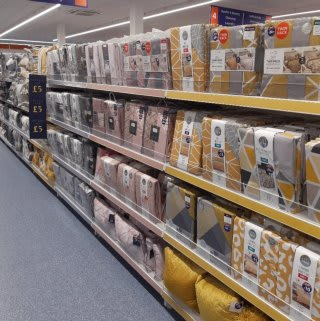 B&M's brand new store in Prestonpans stocks a charming range of bedding, including duvet covers, complete bed sets, pillow cases, mattress protectors and much more!