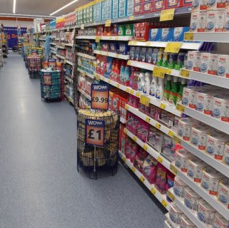 B&M's brand new store in Prestonpans stocks a huge range of cleaning products, from the biggest brands like Daz, Ariel, Comfort, Fairy and many more.