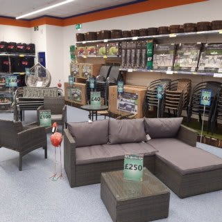 B&M's brand new store in Prestonpans stocks a huge range of Garden Furniture: everything from patio and dining sets, to hammocks, swing chairs and much more!