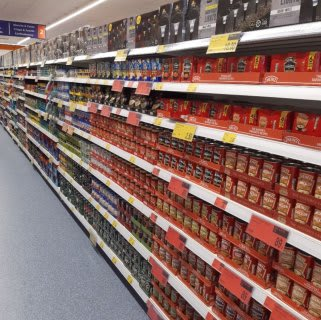B&M's brand new store in Prestonpans stocks a huge selection of everyday groceries, including tinned soup, fish and beans, as well as pasta and rice.
