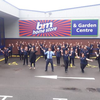 The store team is ready and the ribbon's been cut! B&M is open for business in Kidderminster (Spennells)! You'll find B&M's newest store located out of town at Kidderminster Industrial Estate, Spennells Valley Road.