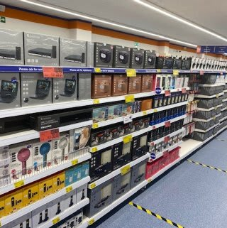 B&M's brand new store in Tunbridge Wells stocks a great range of electrical items for the home, including TVs, Bluetooth speakers, toasters, irons and much more.