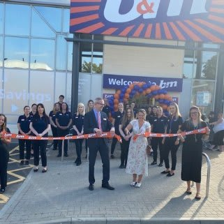 The store team is ready and the ribbon's been cut! B&M is open for business in Tunbridge Wells! Our newest B&M Store is located to the north east of the town centre at North Trading Estate.