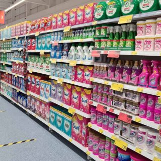 B&M's brand new store in Lisburn stocks a huge range of cleaning products, from the biggest brands like Daz, Ariel, Comfort, Fairy and many more.