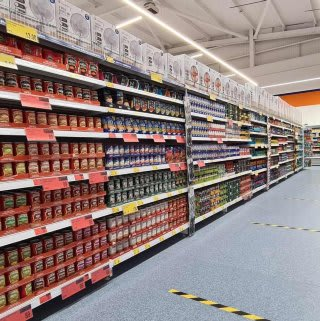 You'll find a huge range of everyday grocery essentials and chilled items at B&M's new Lisburn store.
