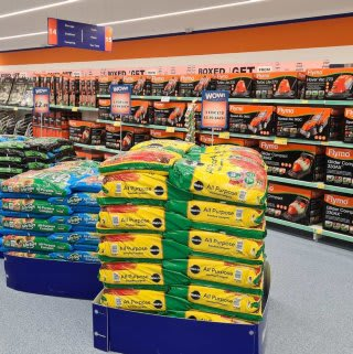 B&M's brand new store in Lisburn stocks a huge Garden range; everything from lawnmowers and strimmers to compost and aggregates.