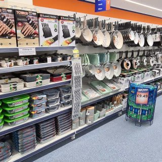 B&M's brand new store in Lisburn stocks an extensive range of kitchen essentials, from cookware and utensils to placemats, dinnerware and glassware.