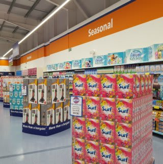 A first glimpse inside B&M's brand new store in Bude, Cornwall.