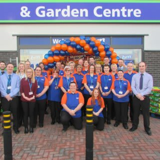 Bude's store team pose outside the recently opened B&M Bargains Store & Garden Centre, Binhamy Retail Park.