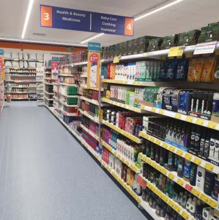 B&M's brand new store in Golborne boasts an extensive health and beauty range, stocked with everything from shower gel and shampoo to toothpaste, sun cream, moisturiser and much more!