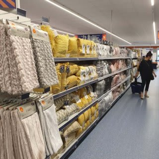 B&M's brand new store in Golborne stocks a stunning range of soft furnishings for the home, including cushions, covers, throws, blankets and more!