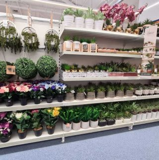 B&M's brand new store in Doncaster stocks a huge range of giftware, like these beautiful artificial foliage accessories!