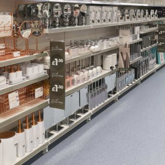B&M's brand new store in Mold stocks a huge selection of bathroom textiles, from bath mats and pedestal mats, bath towels, bath sheets and matching hand towels.