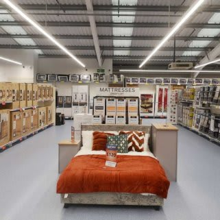 B&M's brand new store in Mold stocks a huge range of quality furniture, everything from wardrobes and beds to coffee tables and dining sets.