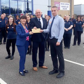 Store staff at B&M's new store in Mold were delighted to welcome local hero, Tim Maunders, the store's chosen VIP for opening day. He received £250 worth of B&M vouchers for taking part in B&M's special day.