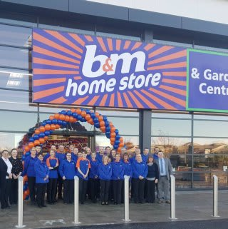 The store colleagues on opening day of their brand new B&M Portlethen.