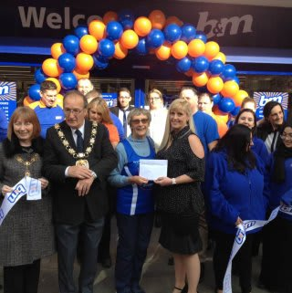 B&M Orient Way being formally opened by Maureen Sanders, B&M's Local Hero for the day.