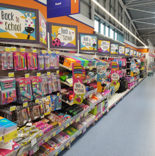 B&M Livingston's brand new store will feature seasonal aisles, like our Back to School stationery range!