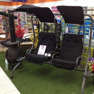 A glimpse of the garden furniture on offer in B&M Welshpool