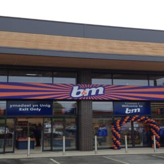 A first glimpse of B&M Welshpool on opening day.
