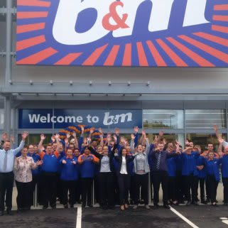 B&M's store team at the new Strood store can't wait to open the doors for their first customers.