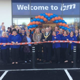B&M's newest store in Wadebridge was officially opened by Lord Mayor Councillor Tony Rush.