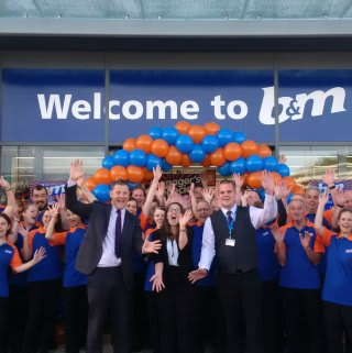 B&M Launceston's store team show their excitement on opening day.