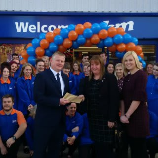 Tracey and Catherine from Megan CIC were the store's very special guests on opening day. The charity received £250 worth of B&M vouchers as a thank you for taking part.