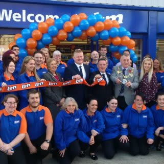 B&M Chatham was officially opened by Mayor Cllr David Wildey and his wife, Denise.