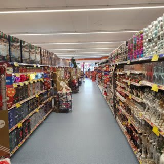 B&M's new Swansea store has a huge range of Christmas decorations, lights and tableware.