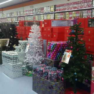B&M's Ortongate Centre store in Peterborough boasts an impressive Christmas range, from artificial trees and crackers to tree lights and decorations.