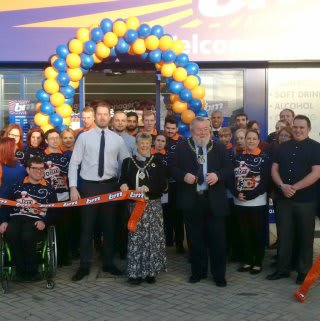 Local Mayor John Fox and his wife Judy were present at B&M's new store opening in Peterborough, cutting the ribbon to officially open the store at the Ortongate Centre.